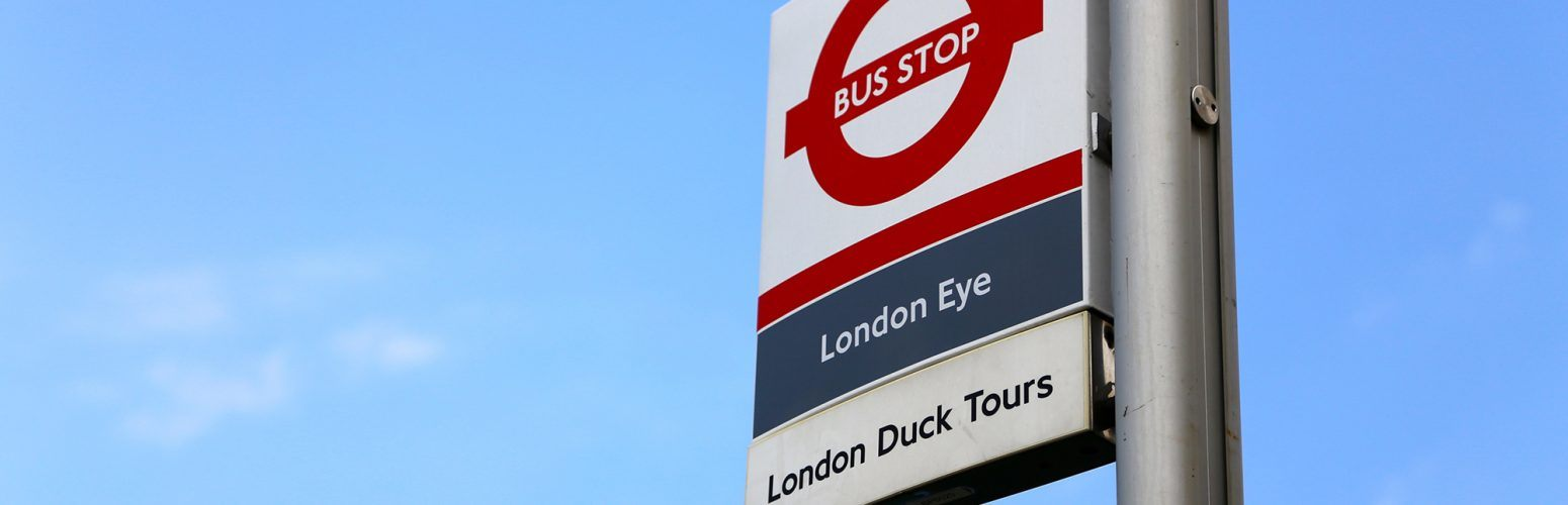 london duck tours bus stop