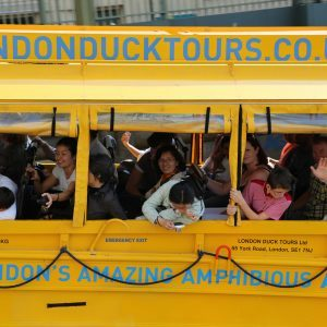 customers on london duck tour
